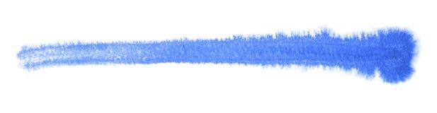 Watercolour brush stroke. A blue watercolor brush stroke in white back Stock Images