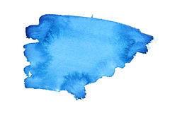 Blue watercolor brush strokes Stock Image