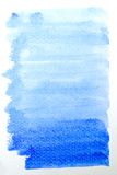 Blue watercolor brush strokes Stock Photography