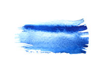 Blue watercolor brush strokes with space for your own text. Wet brush stroke on paper texture. Dry brush strokes. Abstract composition for design elements vector illustration