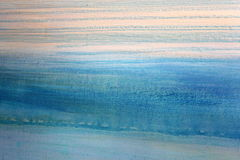 Blue Watercolor on Canvas 2 Stock Images