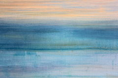 Blue Watercolor on Canvas 3 Royalty Free Stock Images