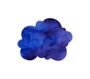 Blue watercolor cloud Stock Images