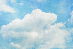 Blue watercolor cloud and sky. Royalty Free Stock Image