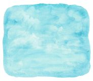 Blue watercolor cloud and sky. Royalty Free Stock Photo