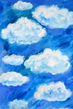 Blue watercolor clouds and sky background.Watercolor background. Blue watercolor clouds and sky background.Watercolor painting stock photos