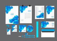 Blue watercolor corporate identity template  for your business Royalty Free Stock Photos