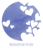 Blue watercolor  hearts Royalty Free Stock Images