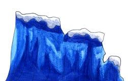 Blue Watercolor Iceberg vector illustration