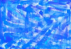 Blue watercolor macro textured background. Colorful bright hand drawn grunge aquarelle illustration stock photography