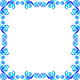 Blue watercolor ornament decorative frame Stock Image