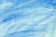 Blue watercolor paint on canvas. Abstract art background. Royalty Free Stock Photos