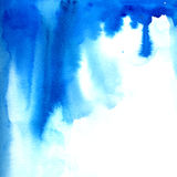 Blue watercolor paint flow.  Vector texture Royalty Free Stock Photo