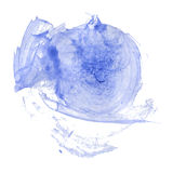 Blue watercolor painting Royalty Free Stock Photography