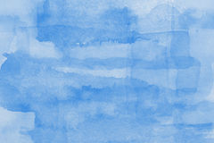 Blue  watercolor paper texture Royalty Free Stock Photo
