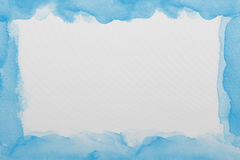 Blue  watercolor paper texture Stock Image