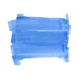 Blue watercolor rectangle Royalty Free Stock Images