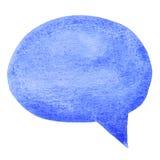 Blue Watercolor Speech Bubble Royalty Free Stock Image