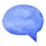 Blue watercolor speech bubble Royalty Free Stock Image