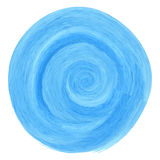 Blue watercolor spiral Royalty Free Stock Photography
