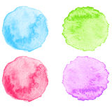 Blue Watercolor splatters. Vector Stock Image