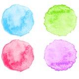 Blue Watercolor splatters. Vector Stock Image