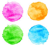 Blue Watercolor splatters. Vector Stock Photography