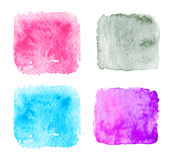 Blue Watercolor splatters. Vector Royalty Free Stock Image
