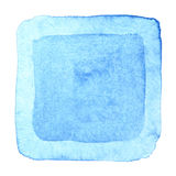 Blue watercolor square frame Stock Images