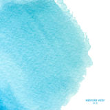 Blue watercolor squarer background Stock Image