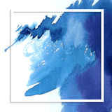 Blue watercolor stain Stock Photography