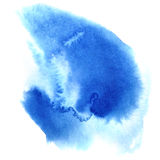 Blue watercolor stain Stock Photos