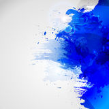 Blue watercolor stain. Vector blob Stock Photography