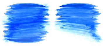 Blue watercolor stains Stock Photo