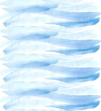 Blue watercolor stripe pattern Royalty Free Stock Images