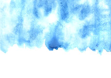 Blue watercolor strokes wirh edge Royalty Free Stock Photography