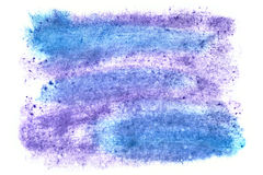 Blue watercolor texture Royalty Free Stock Images