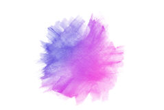 Blue watercolor. On white background Royalty Free Illustration