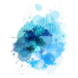 Blue watercolored blot Stock Image