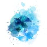 Blue watercolored blot Stock Image