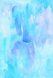 Blue watercolour abstract handmade image Royalty Free Stock Image