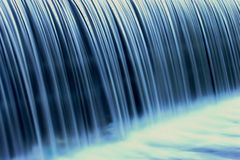 Blue waterfall. On wild river Stock Photo