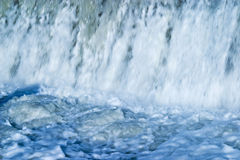Blue waterfall Stock Photo