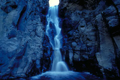 Blue Waterfall. Hidden waterfall in New Mexico, USA Stock Images