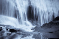 Blue waterfall background Royalty Free Stock Photography