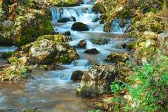 Blue waterfall Royalty Free Stock Image