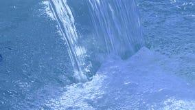 Blue waterfall closeup, stock video footage