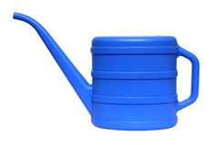 Blue watering-can Stock Photo