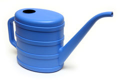 Blue watering-can Royalty Free Stock Images
