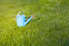 Blue Watering Can Stock Images